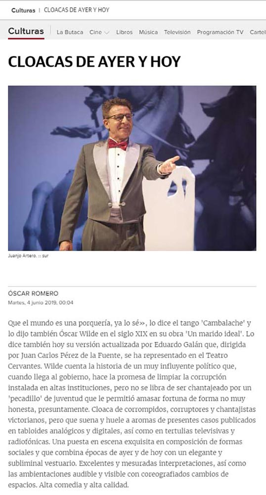 Un Marido Ideal - PRENSA
